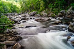 流程的Linville河 库存图片