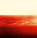 流红色沙子水 图库摄影