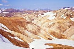 流纹岩山,冰岛 免版税图库摄影