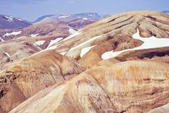 流纹岩山,冰岛 库存图片