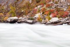 流经尼亚加拉峡谷,加拿大的急流 免版税库存图片