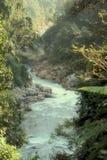 流经谷的河 免版税库存照片