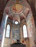 流血的城堡教堂,斯洛文尼亚内部  免版税库存照片