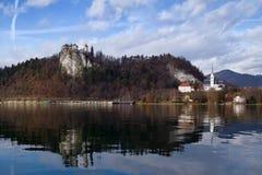 流血的城堡 免版税库存图片