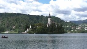 流血的湖在斯洛文尼亚133533 股票录像