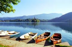 流血的湖斯洛文尼亚 免版税库存照片