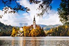 流血的湖,斯洛文尼亚,欧洲 免版税库存照片