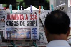 流行性感冒墨西哥新闻 免版税图库摄影