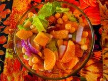 流行的五颜六色的晚餐沙拉 免版税库存图片