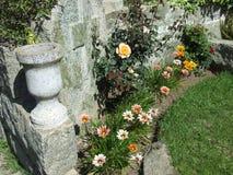 流行的花庭院  免版税库存图片