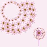流行粉红花设计元素 免版税库存图片
