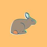 流行艺术兔子 皇族释放例证