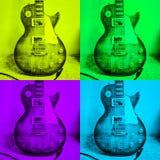 流行艺术吉他 库存例证