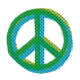 流行艺术和平标志 免版税库存照片