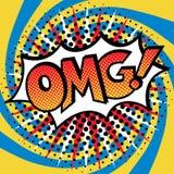流行艺术OMG!文本设计 免版税库存图片