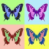 流行艺术swallowtail (Papilio machaon) 库存图片
