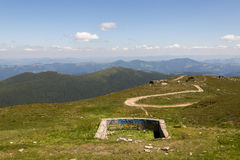 从流行音乐伊冯(Chornohora)的看法,喀尔巴阡山脉 库存图片