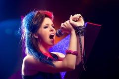 流行音乐唱歌阶段星形 免版税库存图片