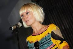 流行音乐明星valeriya 免版税库存图片