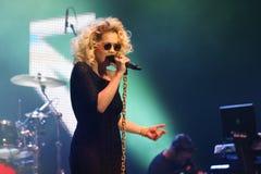 流行音乐歌唱家-瑞塔Ora 免版税库存图片