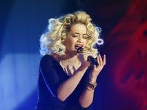 流行音乐歌唱家-瑞塔Ora 免版税库存照片