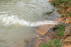 水流量向湖 免版税库存照片