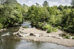 流经毛刺国家公园,埋葬的河 免版税库存图片