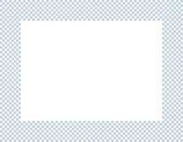 浅兰和白色方格的框架 库存图片