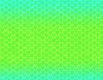 浅兰和绿色梯度蛇皮样式,锋利的标度 向量例证