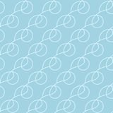 浅兰的几何装饰品 无缝的模式 免版税图库摄影