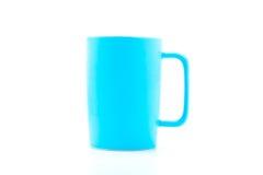 浅兰的咖啡杯 免版税库存图片