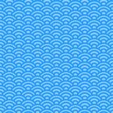 浅兰的波浪,日本样式 库存例证