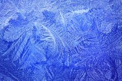 浅兰的霜模式 库存图片
