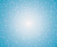 浅兰的颜色几何六角形无缝的样式 免版税库存图片