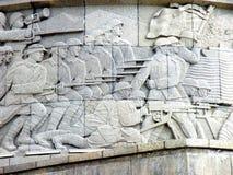 浅浮雕在Marasesti Mausoluem 库存照片