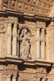浅浮雕大教堂de mallorca palma 库存照片
