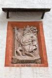 浅浮雕特写镜头在堡垒Hohensalzburg 奥地利萨尔茨堡 免版税库存照片