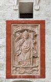 浅浮雕特写镜头在堡垒Hohensalzburg 奥地利萨尔茨堡 库存照片
