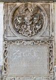 浅浮雕,圣Agidius大教堂在格拉茨,奥地利 免版税库存照片