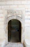 浅清真寺门在可汗的宫殿,克里米亚 免版税库存照片