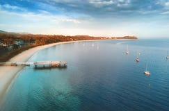 浅滩海湾斯蒂芬斯港 免版税库存图片