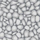 浅灰色的传染媒介小卵石纹理 免版税库存图片