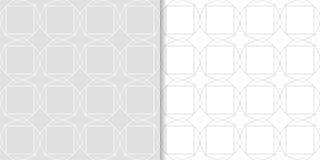 浅灰色的几何装饰品 仿造无缝的集 库存照片