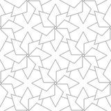 浅灰色的几何装饰品 无缝的模式 免版税库存图片