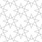 浅灰色的几何装饰品 无缝的模式 免版税库存照片