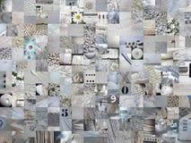 浅灰色的补缀品集锦照相背景 库存图片