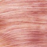 浅粉红色健康夹子在头发纹理 免版税库存照片
