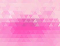 浅粉红色的多角形例证,包括三角 您的事务的三角设计 免版税库存照片