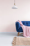 浅粉红色的客厅 免版税库存照片