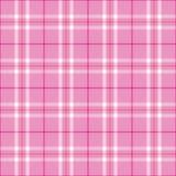 浅粉红色的格子花呢披肩 库存照片